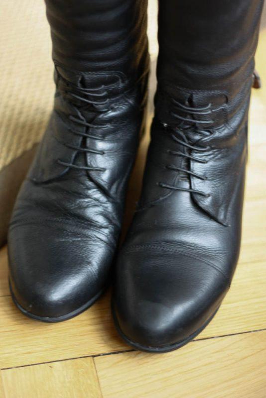 Les bottes sont maintenant propres.