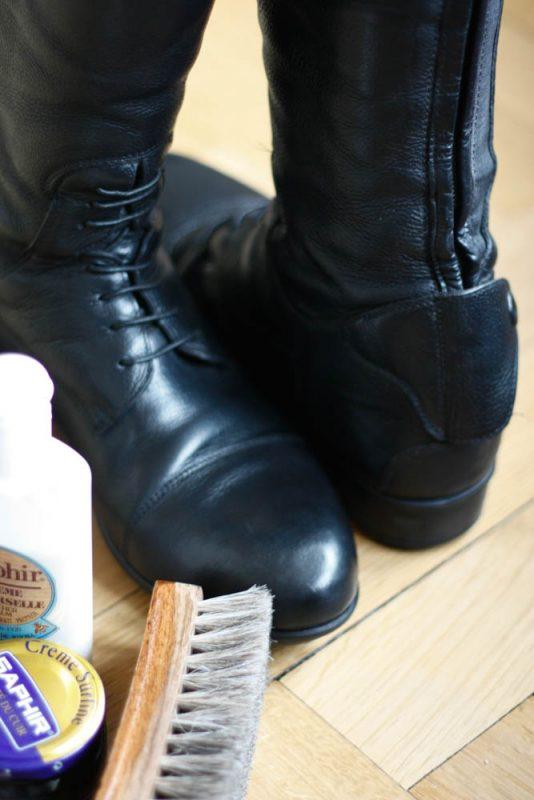 De belles bottes qui brilles et un cuir bien entretenu !