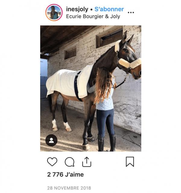 Instagram d'Inès Joly